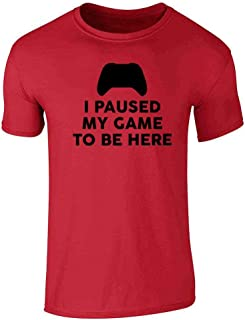 I Paused My Game to Be Here XB Controller Gamer Short Sleeve T-Shirt