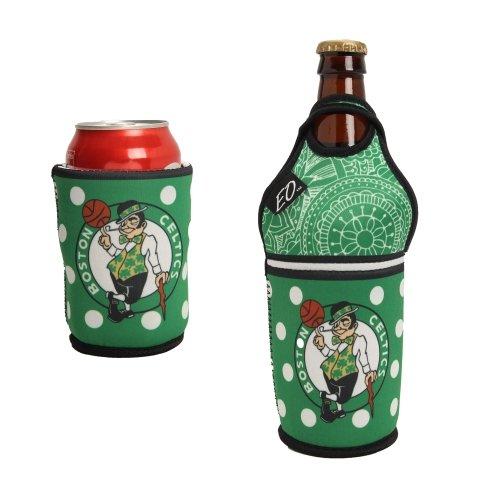NBA Boston Celtics Bottle/Can Insulator, One Size, Multicolor
