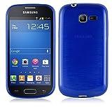 Cadorabo Coque pour Samsung Galaxy Trend Lite en Bleu – Housse Protection Souple en Silicone TPU avec Anti–Choc et Anti–Rayures – Ultra Slim Fin Gel Case Cover Bumper