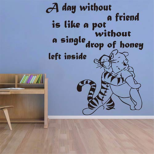 Winnie l'ourson sticker créatif bricolage Winnie l'ourson Tigrou Baby Quote Nursery