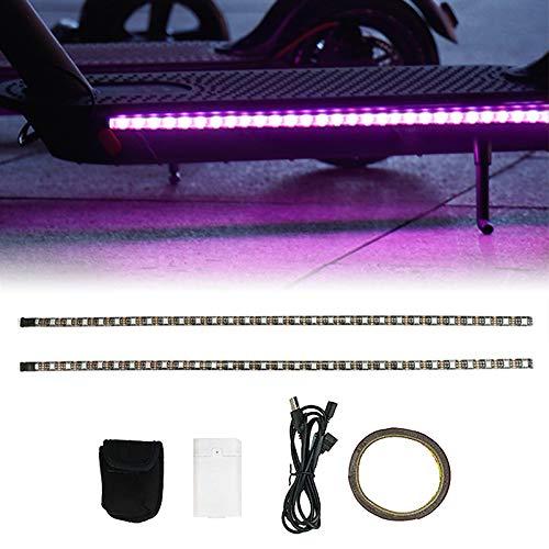 Walmeck Tira de LED Tira de Linterna Cambio Resistente al Agua Tira de luz Nocturna Reemplazo de Barras para patinetas eléctricas Scooters