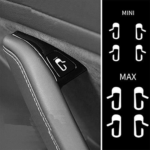 Ocamo Auto zubehör Auto Aufkleber Tipps zum Öffnen der Tür White Luminous Sticker Kit Modified Trim for Tesla Model 3 Leuchtend
