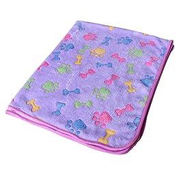 Westeng 1pc Soft Warm Pet Dog Cat Blanket Pet Paw Print Sleep Cushion Mat 60 x 40cm