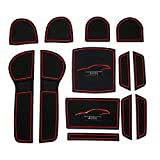 スバル レヴォーグ専用 D型/E型用(赤色)インテリアラバーマットVer3 /ドアポケットマットSUBARU ゴムマット・ノンスリップマット LEVORG