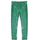 Frogwill Little Girls Mermaid Scale Leggings Fish Pants 3-4 Years Green