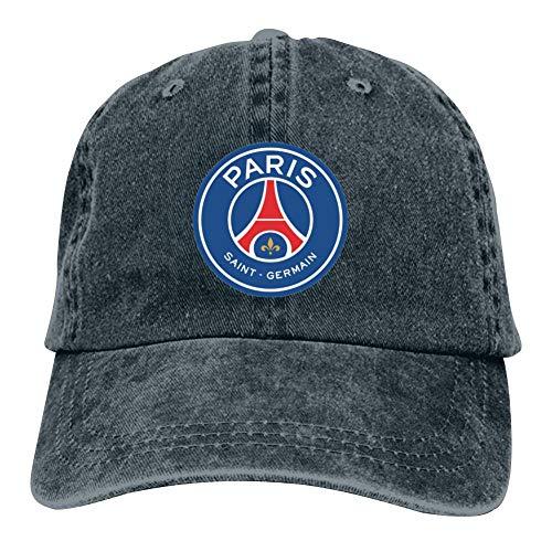 SDASE Paris Saint-Germain - Gorra de béisbol para Hombre y Mujer con Logo de Club de fútbol Ajustable, Estilo Polo, 7 Colores