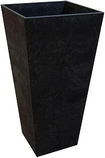 Tierra Verde 14 in. x 27.5 in. Slate Rubber Self Watering Outdoor Patio Planter, Black (MT5100117)