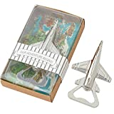 16 Pcs Silver Airplane Bottle Openers for Gifts for Pilot/Veteran Adventure Travel Baby Shower Wedding Birthday Party Gifts Decorations Souvenirs for Guests with Individual Package