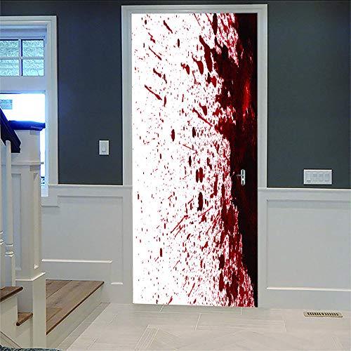 Türtapete Selbstklebend Türposter Alte Holztür Dekorfolie Selbstklebend Tapete, Tür-Aufkleber, Wandbild 77 * 200Cm