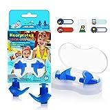 Hearprotek Natación Tapones para los oídos, 2 Pares Tapones de Silicona Reutilizables a Prueba de Agua para Nadadores duchas de baño y Otros Deportes acuáticos Tamaño para niños (Azul)