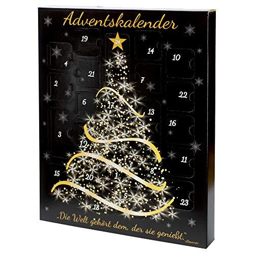 Adventskalender mit hochwertigen Senfen und Gewürzen für erwachsene Frauen und Männer, Weihnachtskalender für Senfliebhaber, in liebevoller Handarbeit gefüllt