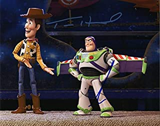 Toy Story 4 Buzz and Woody Autographed Signed 8x10 Photo Certified Authentic COA Signed by: Tom Hanks and Tim Allen