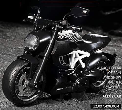 Motocicleta Modelo 1: 32 Escala Alta Simulación Modelo Aleación Moto en Miniatura con Luz y Sonido para Regalo de Fiesta de cumpleaños para niños