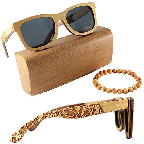 Orbitree - Occhiali da sole con montatura in legno per uomo e donna. 100% legno d'acero