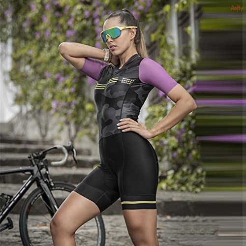 DFKE Female Cycling Suit,Summer For Women Cycling Jersey,Jumpsuit,Triathlon Clothes cycling clothing (Color : 2043, Size : 4XL)