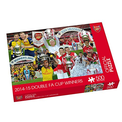 Paul Lamond Games Arsenal 2014 2015 FA Cup Winners Dobles 500pc Puzzle - Licencia FÚTBOL Puzzle
