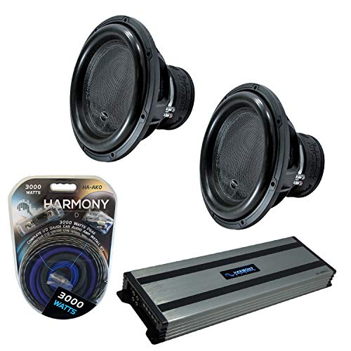 """Harmony Audio (2) HA-ML151 Monolith 15"""" Competition Sub 3200W Subwoofer Bundle with HA-A1500.1 Amplifier & Amp Kit"""