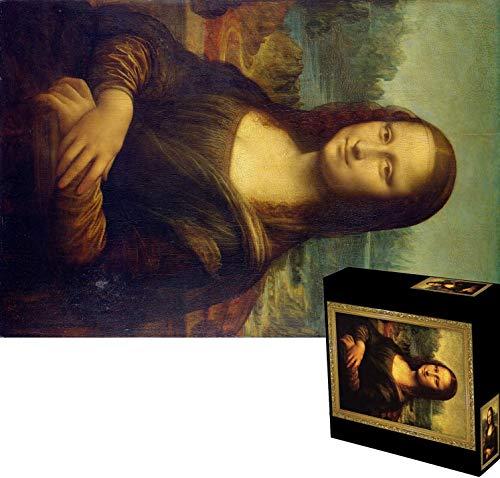 MRR Puzzle per Adulti Difficile 2.000 Pezzi, 40'x 27.5', per Adulti Kids-Mona Lisa, Divertente Puzzle a Pressione ridotta per Famiglie con Tema Pittura ad Olio