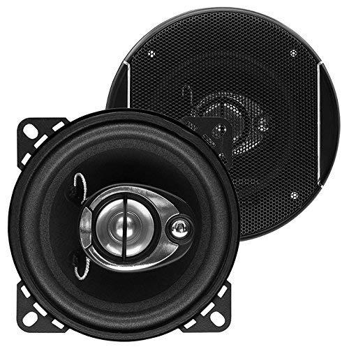 Sound Storm SLQ340 4 Inch Car Speakers - 200 Watts of Power Per Pair, 100 Watts Each, Full Range, 3 Way, Sold in Pairs