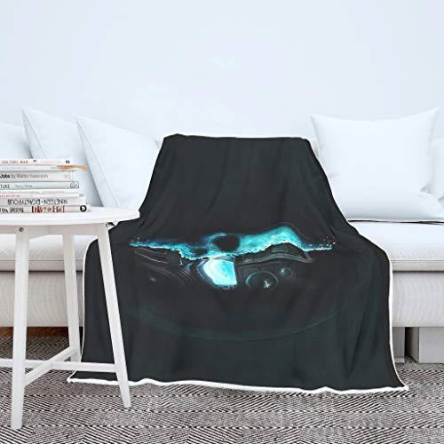 NC83 Vleermuisdeken Skulls Robot Design Print Premium Original werft Robe - half zacht geschikt voor Siesta gebruik