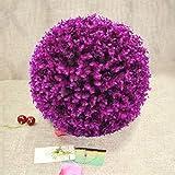 JSANSUI Decoración del Aula Planta Artificial Bola púrpura árbol de eucalipto Boda Evento decoración del hogar al Aire Libre Fuera de la Florida (diámetro: 7,5 Pulgadas)