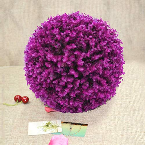 TANG AI MING Kunstmatige Purple Eucalyptus Plant Ball Topiary Wedding Event huis Outdoor Decoration Opknoping Ornament, Diameter: 13,4 inch Huis