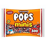 Tootsie Pops Minis with Chocolatey Center, Assorted Flavors, 300 Count Bag, Peanut Free, Gluten Free