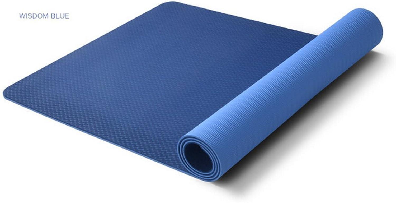 Yoga Mat, Yoga Mats Beginners Tasteless Thickening and Widening Anti-Skid Fitness Mat