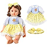 Voccim Girl Baby-Doll-Clothes for 22 Inch Reborn Doll Clothes and Accessories - Including Doll Dresses and Bow Headband, 20-22 Inch New Born Baby Doll Clothing Gift