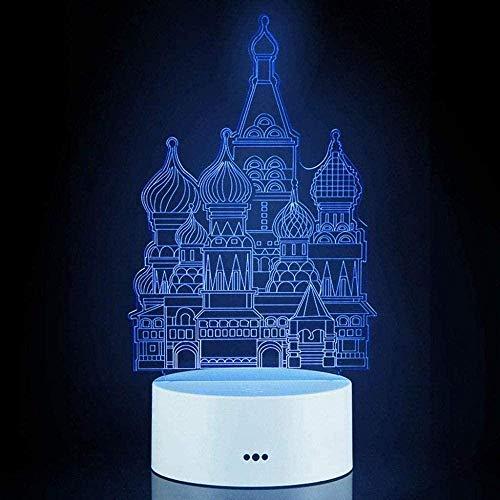 3D Illusionslampe LED Nachtlicht Illusion Castle dekorative Beleuchtung Gerät mit USB-Kabel für Geburtstag Weihnachten Geschenke für Esstisch Jungen