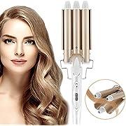 Lockenstab,3 Fässer konstante Temperatur Lockenwickler,Tut nicht weh Haare,22mm Ändern Sie die Haarform nach Belieben, kleine und große Rollen,Schnelle Erwärmung Lockenwickler für Lange/kurze Haare