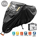 2020 Best Motorcycle Covers Waterproof 104 Inches XXL Heavy Duty All Season Outdoor Sun/Rain/Snow/Dust Protection Durable Oxford Touring Cruisers Bike Covers for Harley Davidson Kawasaki and More