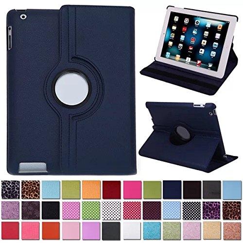 Beebiz Caso girante 360 ??° Cuoio per iPad Protezione Caso Caso Copertura Intelligente 2 / iPad 3 / iPad 4