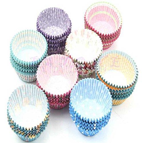 Bismarckbeer Mini tasses à pâtisserie en papier multicolore pour muffins et cupcakes 100 pièces
