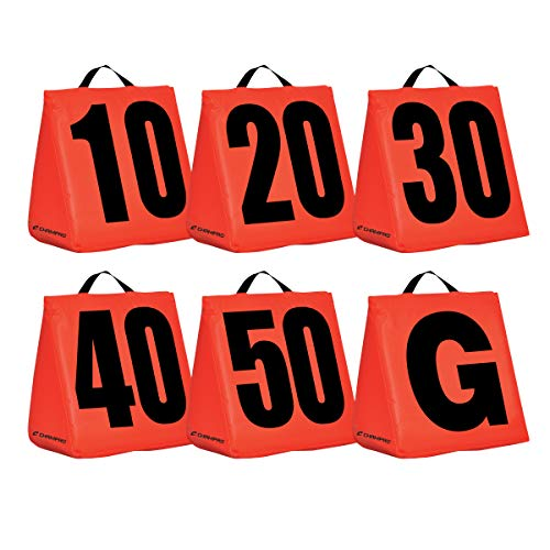 CHAMPRO Solid Weighted Football Yard Markers, Orange, One Size (A102S)
