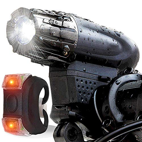 IM AMELIA 5000 Lumen 8.4V Rechargeable Cycling Light Bicycle Bike Front Rear LED Lamp Set