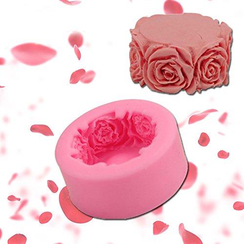 Valentine's Day Rose Quilt Cake Mélange De Silicone Mousse De Chocolat Gâteau De Glace Moule À La Bougie