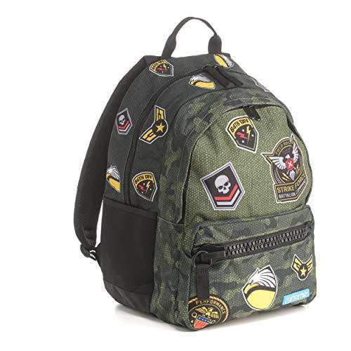 Zaino Mitama Unlimited Army - verde, 30 LT, Triplo scomparto, megazip, scuola elementare e medie