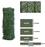 Seto Decor KF050B Seto Artificial Decorativo de Hoja Fina de 0,5 x 5 Metros, Color Verde