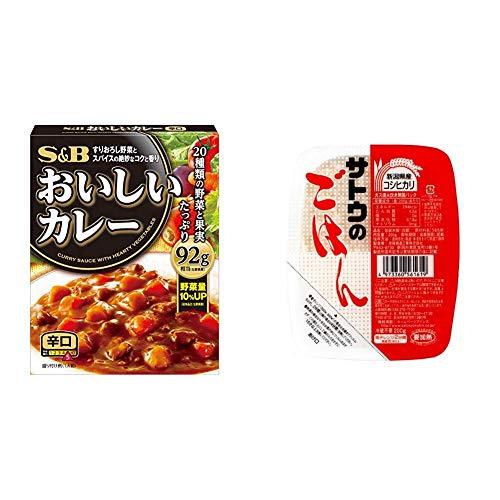 【セット販売】S&B なっとくのおいしいカレー 辛口 180g×6個 + サトウのごはん 新潟県産コシヒカリ 200g×20個