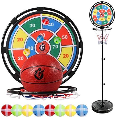 Best Deals! Yankuoo Outdoor Exercise 2 in 1 Kids Basketball Stand Height Adjustable 65-170cm Outdoor...