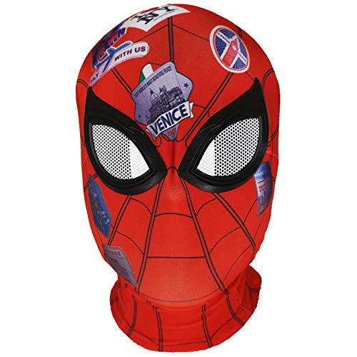QWEASZER Peter Parker Spider-Man Mscara Negro Miles Morales Arns Marvel Avengers Lycra Mscara Facial Completa Pelcula de Halloween Cosplay Accesorios de Vestuario Accesorios,Spiderman H-OneSize