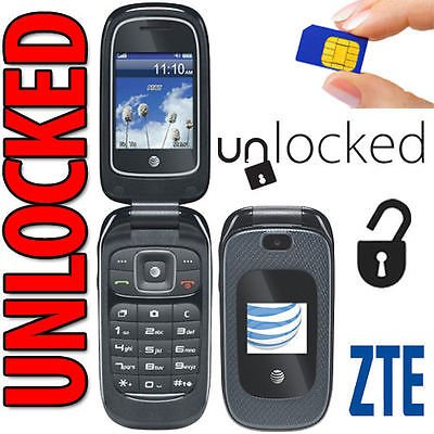 ZTE Z222 3G GSM (at&t) Unlocked Flip Phone with Camera (Not CDMA Carriers Like Sprint Verizon Boost...