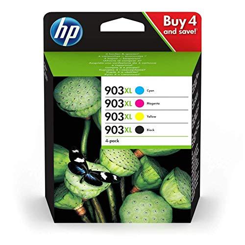 HP 903XL Multipack Schwarz Rot Gelb Blau Original Druckerpatronen mit hoher Reichweite fur HP Officejet 6950 HP Officejet Pro 6960 6970