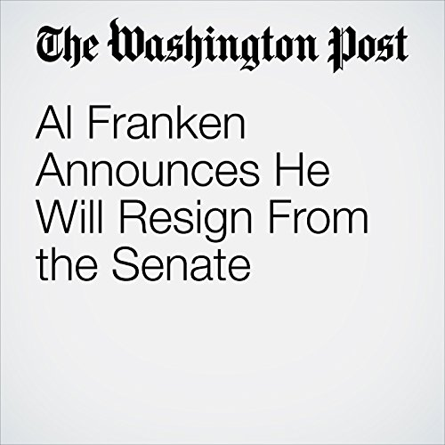 Al Franken Announces He Will Resign From the Senate copertina