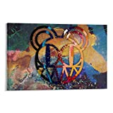 EWRW 6 Radiohead-Poster, Gemälde auf Leinwand,