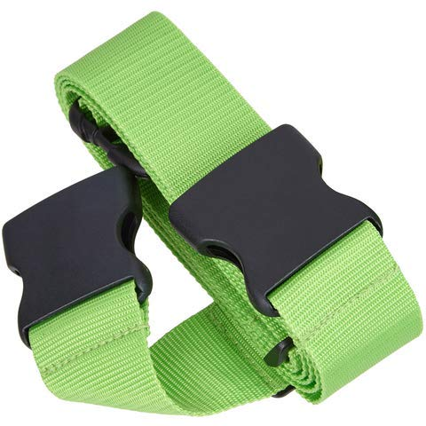 TRAVELTO Luggage Strap for The securing and Identification of Luggage, Dimensions 50x200 cm (Two-Way Luggage Strap), neon Green – Suitcase- Strap/Luggage-Strap