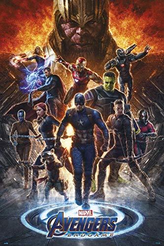 Marvel 123456 Avengers Endgame Poster Heroes Battle