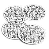 Pegatinas de vinilo (juego de 4) 10 cm – BW – Londres Icons England Tourist Bus Fun Calcomanías para portátiles, tabletas, equipaje, reserva de chatarra #36440