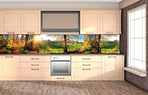 DIMEX LINE Küchenrückwand Folie selbstklebend Wiese | Klebefolie - Dekofolie - Spritzschutz für Küche | Premium QUALITÄT - Made in EU | 350 cm x 60 cm